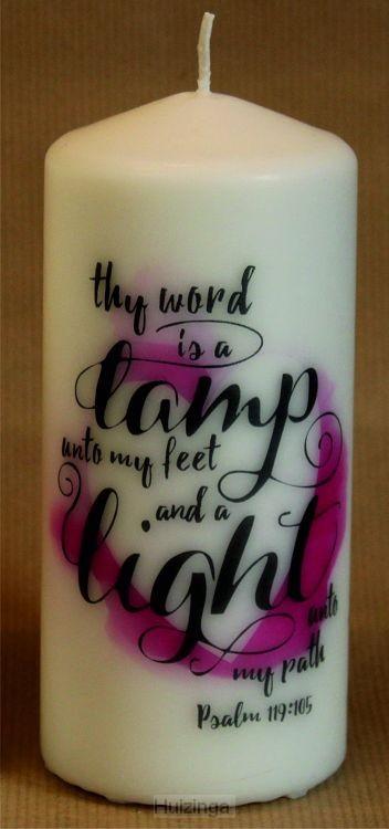 Kaars XL 15cm Thy word