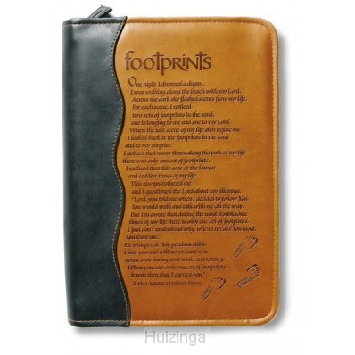 Biblecover duotone footprints xl