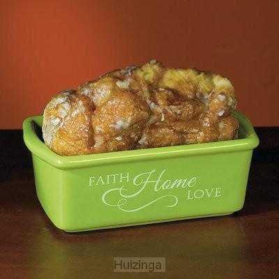 Mini loaf pan faith home love