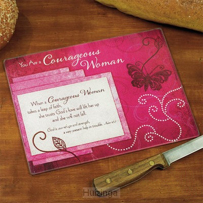 Mini cutting board courageous woman