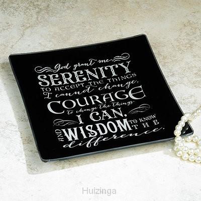 Glass jewelry dish serenity Prayer