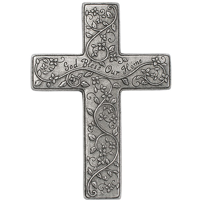 Metal cross God bless
