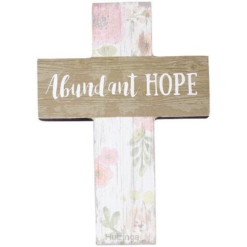Mini wall cross abundant hope