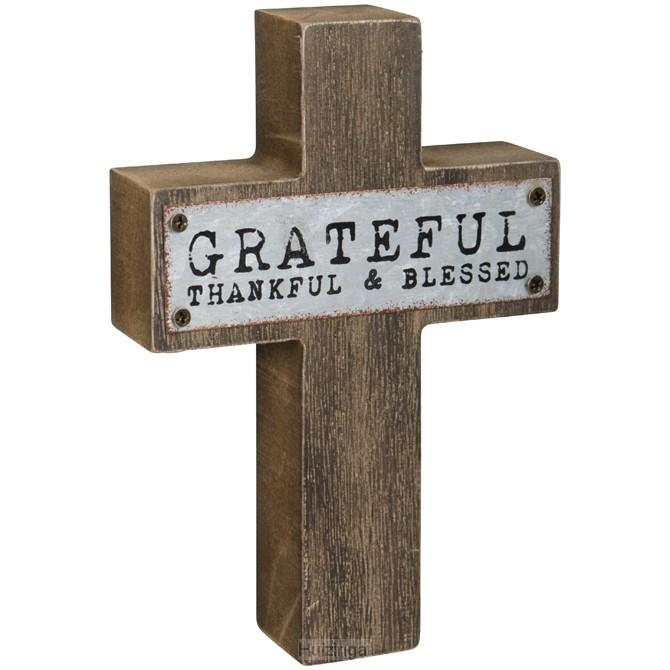 Mini cross grateful