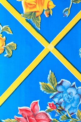 Bijbelhoes blue/yellow stripes studiebij