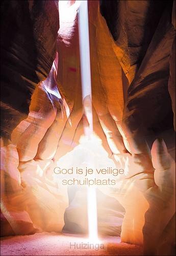 Wenskaart God is je veilige schuilplaats