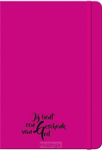 Schrijfboekje pink geschenk van God