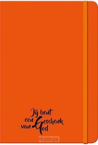 Schrijfboekje oranje geschenk van God