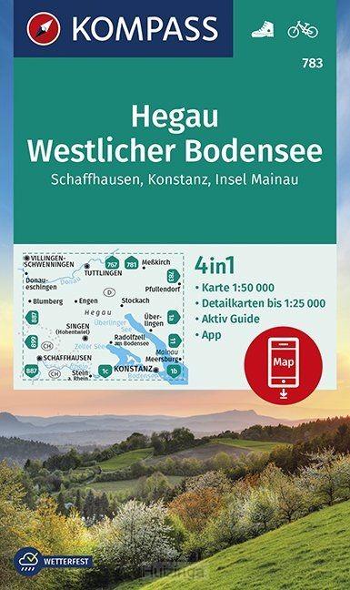 Hegau Westlicher Bodensee, Schaffhausen, Konstanz, Insel Mainau 1:50 000