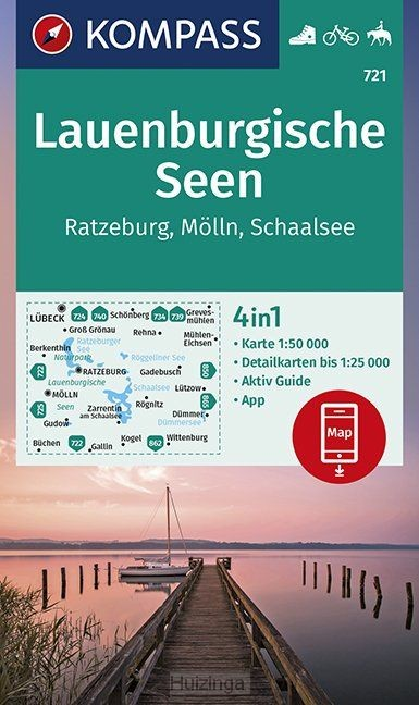 Lauenburgische Seen, Ratzeburg, Mölln, Schaalsee 1:50 000