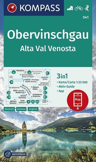 Obervinschgau, Alta Val Venosta 1:25 000