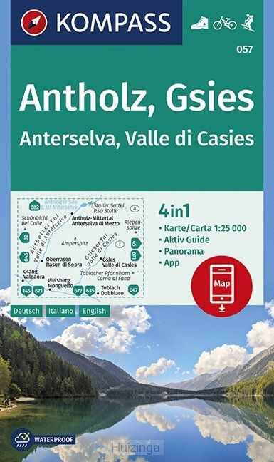 Antholz, Gsies, Anterselva, Valle di Casies 1:25 000