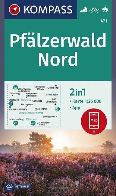KOMPASS Wanderkarte Pfälzerwald Nord 1:25 000