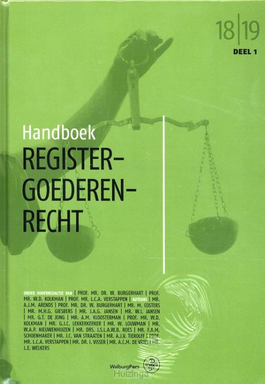 Handboek Registergoederenrecht / 2018-2019