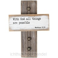 Wall cross with God all things