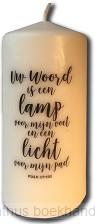 Uw woord is een lamp voor mijn voet