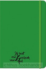 Schrijfboekje groen geschenk van God