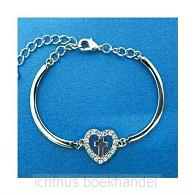 Bracelet heart/cross