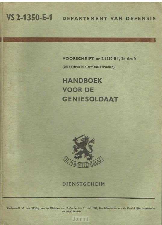 VS 2-1350-E-1 Handboek voor de Geniesold