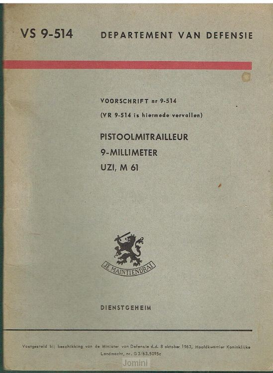 VS 9-514 Pistoolmitrailleur 9 millimeter