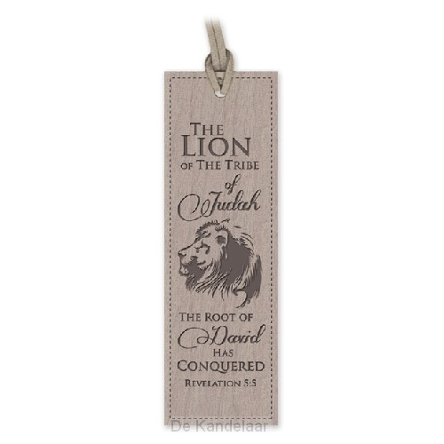 Lux leather bookmark lion