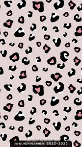 2022 28 Month planner Pink leopard