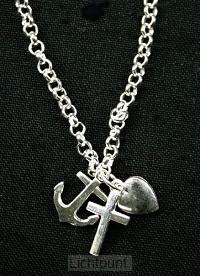 Armband zilver 18cm geloof hoop liefde