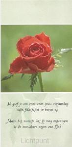 Wenskaart ik geef je een roos set 10