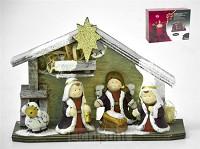 Kerststal hout kinderen 22.5cm