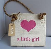 Wandbord little girl vierkant