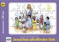 Kaart puzzel Jezus met kinderen