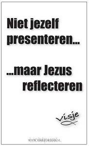 Kaart visje Jezus reflecteren