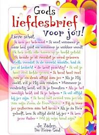 Minikaart kinder Gods liefdesbrief voor