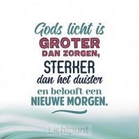 Wk kerst Gods Licht is groter dan zorgen