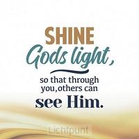 Wk kerst shine Gods light so that