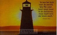 Minikaart ik ben het licht der wereld