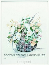 Schilderij aquarel jer 15:16