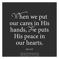 Wk vierkant puur Gods vrede toegewenst