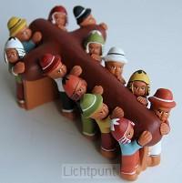 Kruis met 12 dragers keramiek