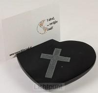 Kaarthouderhartvorm zwart blackstone kru
