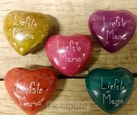 Liefste mama lichtblauw hart steen