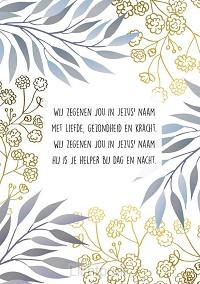 Wenskaart Wij zegenen jou in Jezus naam