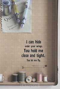 Wk I can hide under your wings