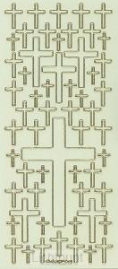 Kruisstickers 56 per vel lichtgevend