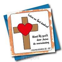 Laten we God danken