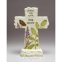 Kruis steen staand 30.5cm when we love