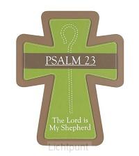 Kruis hang 25cm faux leather psalm 23