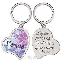 Keyring Heart Peace