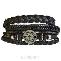 3pc Bracelet set Crown/Cross