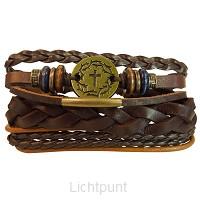 3pc Bracelet set Gold crown/Cross